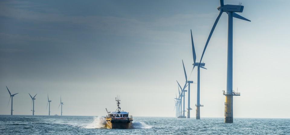 Windcat at offshore windfarm Amalia